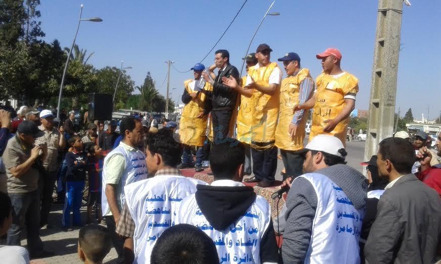 التنسيقية المحلية من اجل مناهضة الفساد و المفسدين تقيم مهرجانا خطابيا بالزمامرة