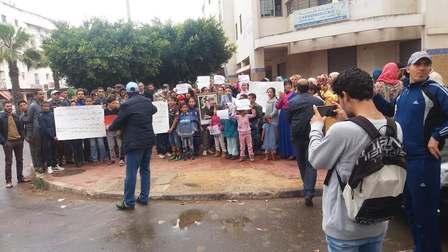 سكان حيي السلام والنجد بالجديدة في وقفة احتجاجية للمطالبة بالحق في التعليم والصحة