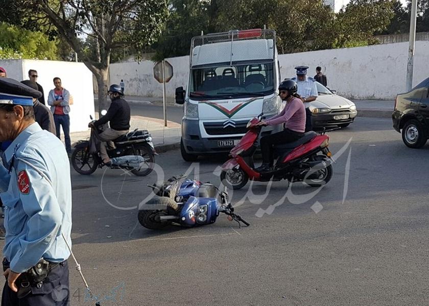 دراجي بمدينة الجديدة يتسبب في حادثة سير مع جنحة الفرار