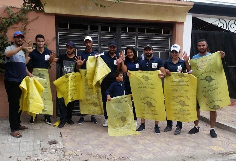 جمعويون بالجديدة ينظمون حملة للتحسيس بموضوع النظافة بمناسبة عيد الأضحى