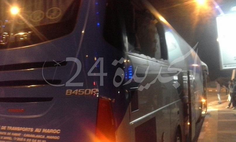 حافلة 'ساتيام' تتعرض الى اعتداء شنيع بواسطة الحجارة قرب الجرف الاصفر
