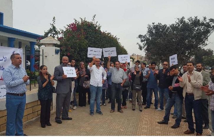 الأساتذة الباحثون بجامعة شعيب الدكالي بالجديدة يتضامنون مع طلبة مدراس ENSA