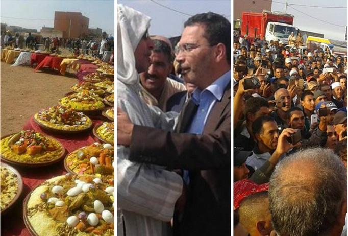 ساكنة اولاد عمران بإقليم سيدي بنور تحتفل بفوز الخلفي بمقعد برلماني