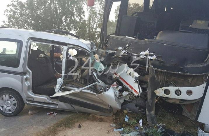 ثلاثة قتلى ومصابان في حادثة سير مأساوية بتراب إقليم الجديدة