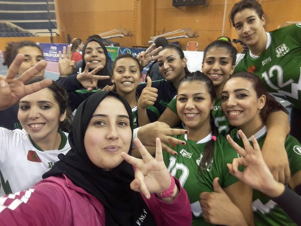 الدفاع الجديدي للكرة الطائرة اناث يحقق الميدالية البرونزية في البطولة العربية بالقاهرة