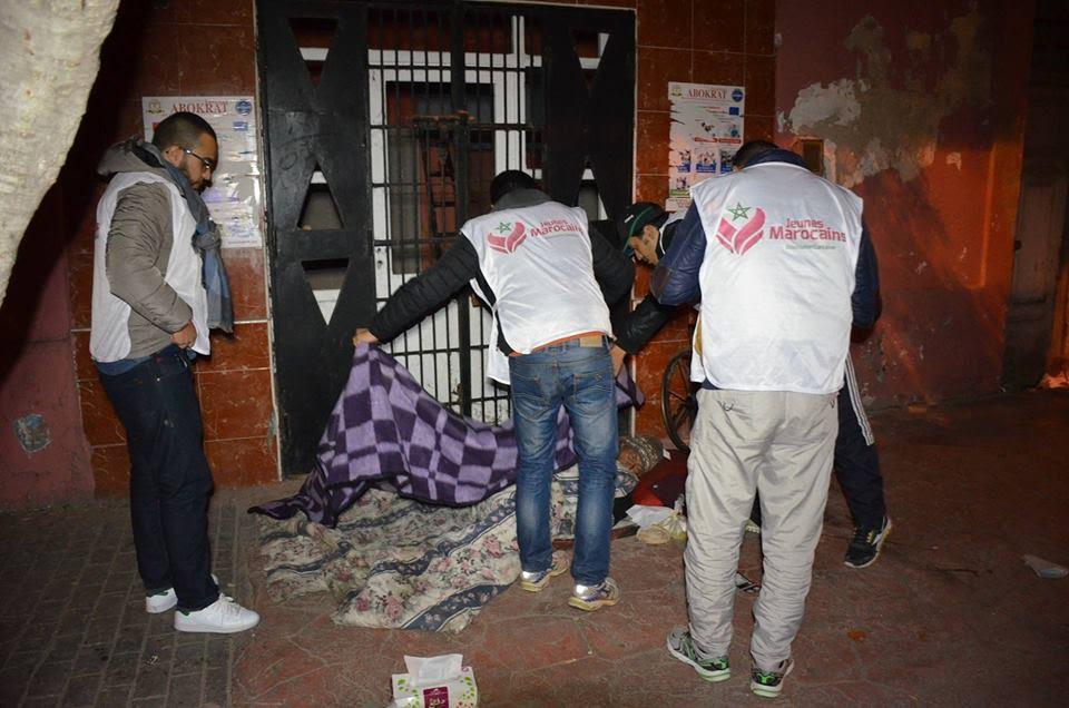 جمعية 'جون ماروكان' بالجديدة تنظم حملة لفائدة الاشخاص بدون مأوى