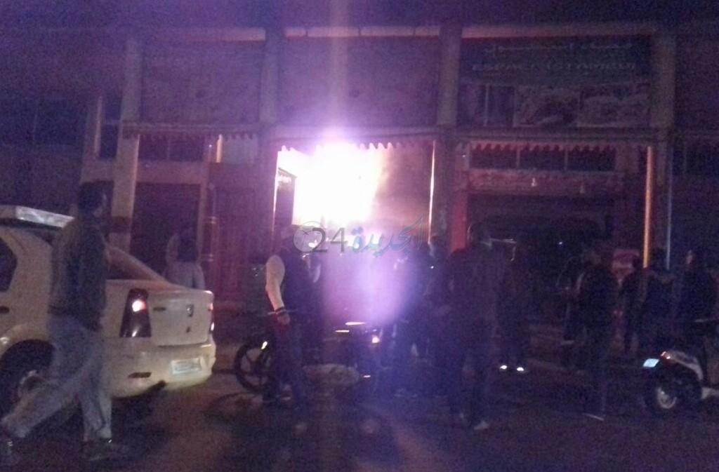 النيران تلتهم مطعما للوجبات السريعة بشارع محمد الخامس بالجديدة + فيديو