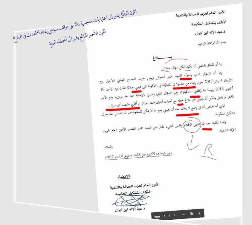 رواية حكومة شهرزاد.. قراءة في بلاغ بنكيران