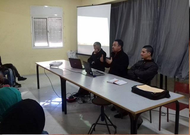 لقاء تواصلي للاطر الادارية المتدربة باعدادية المصب بازمور حول تدبير وتهيئ الامتحانات