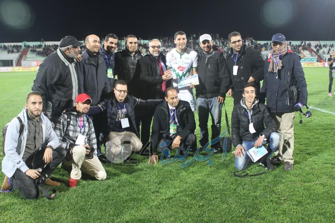 جمعية الصحافة بالجديدة تسلم أكردوم ذرع التتويج كأفضل لاعب في مرحلة ذهاب البطولة