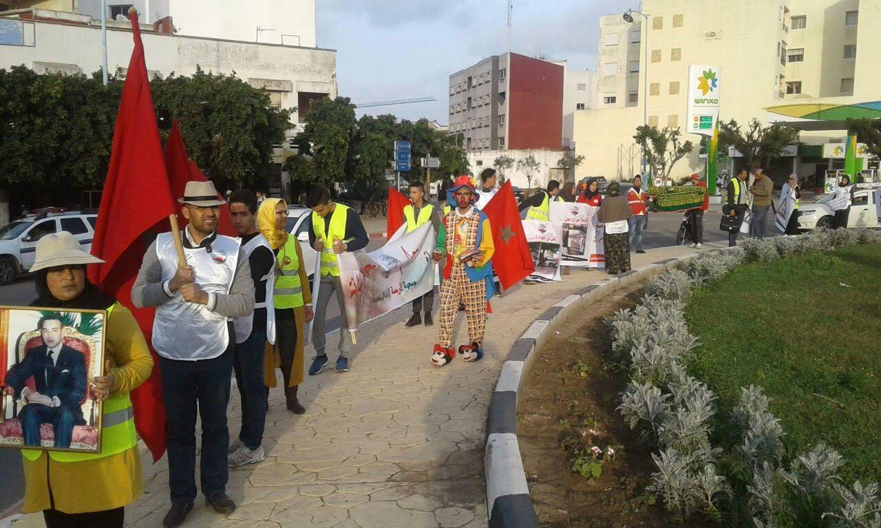 جمعية الرحمة للإغاثة بالجديدة تنظم تظاهرة تحسيسية للوقاية من حوادث السير