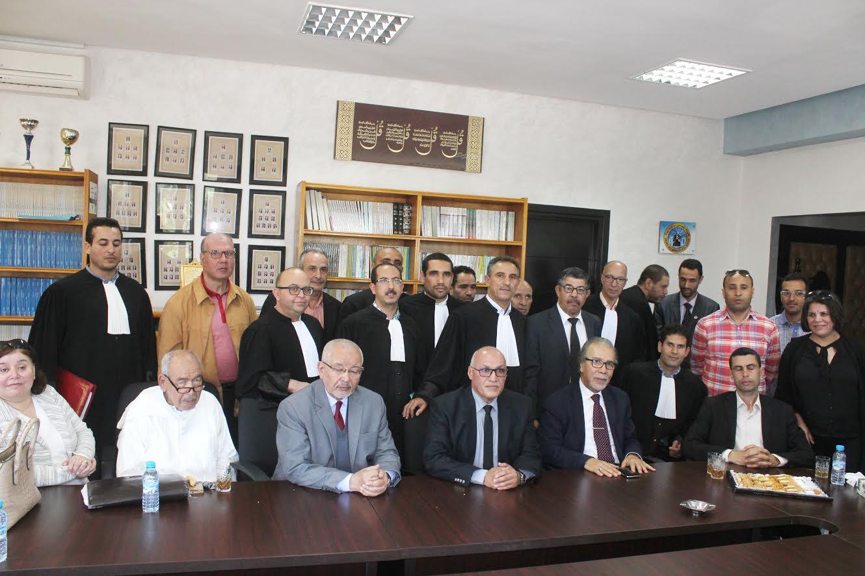 بالصور.. هيئة المحامين بالجديدة تكرم في ''حفل الوداع'' الاستاذ فيصل شوقي