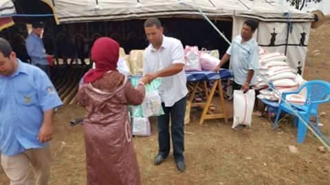 جمعية البركة للتنمية بدوار الخميرات بأولاد احسين توزع قفة رمضان المبارك