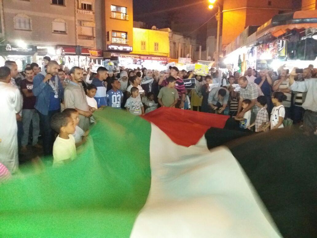 بالصور.. تنظيم وقفة احتجاجية بمدينة الجديدة تضامنا مع المسجد الاقصى