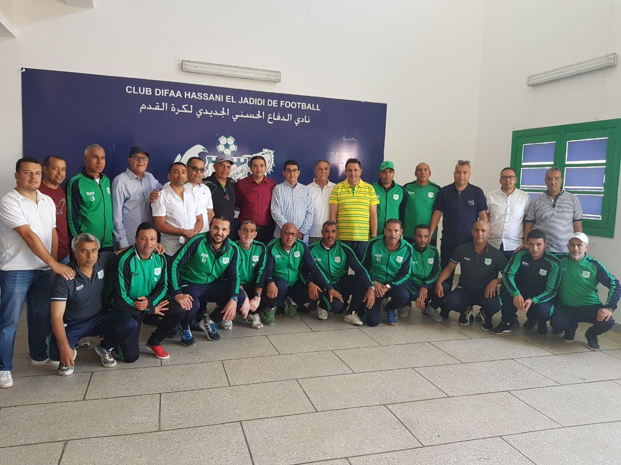 عامل الجديدة محمد الكروج في زيارة لنادي الدفاع الحسني الجديدي