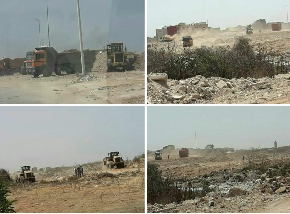 إنطلاق عملية كبرى لتشجير 62 هكتارا بمنطقة المطرح القديم للنفايات بالجديدة