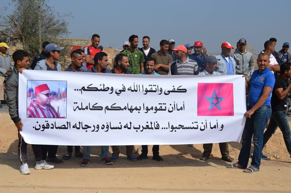 توقف المشاريع التنموية بجماعة العكاكشة بإقليم سيدي بنور يخرج ساكنتها للإحتجاج