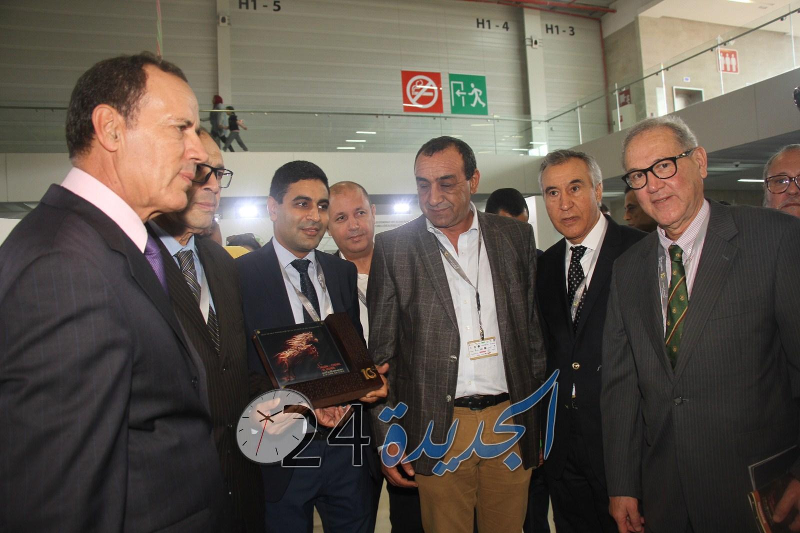بالصور.. زيارة لرواق المجمع الشريف للفوسفاط  بمعرض الفرس بالجديدة