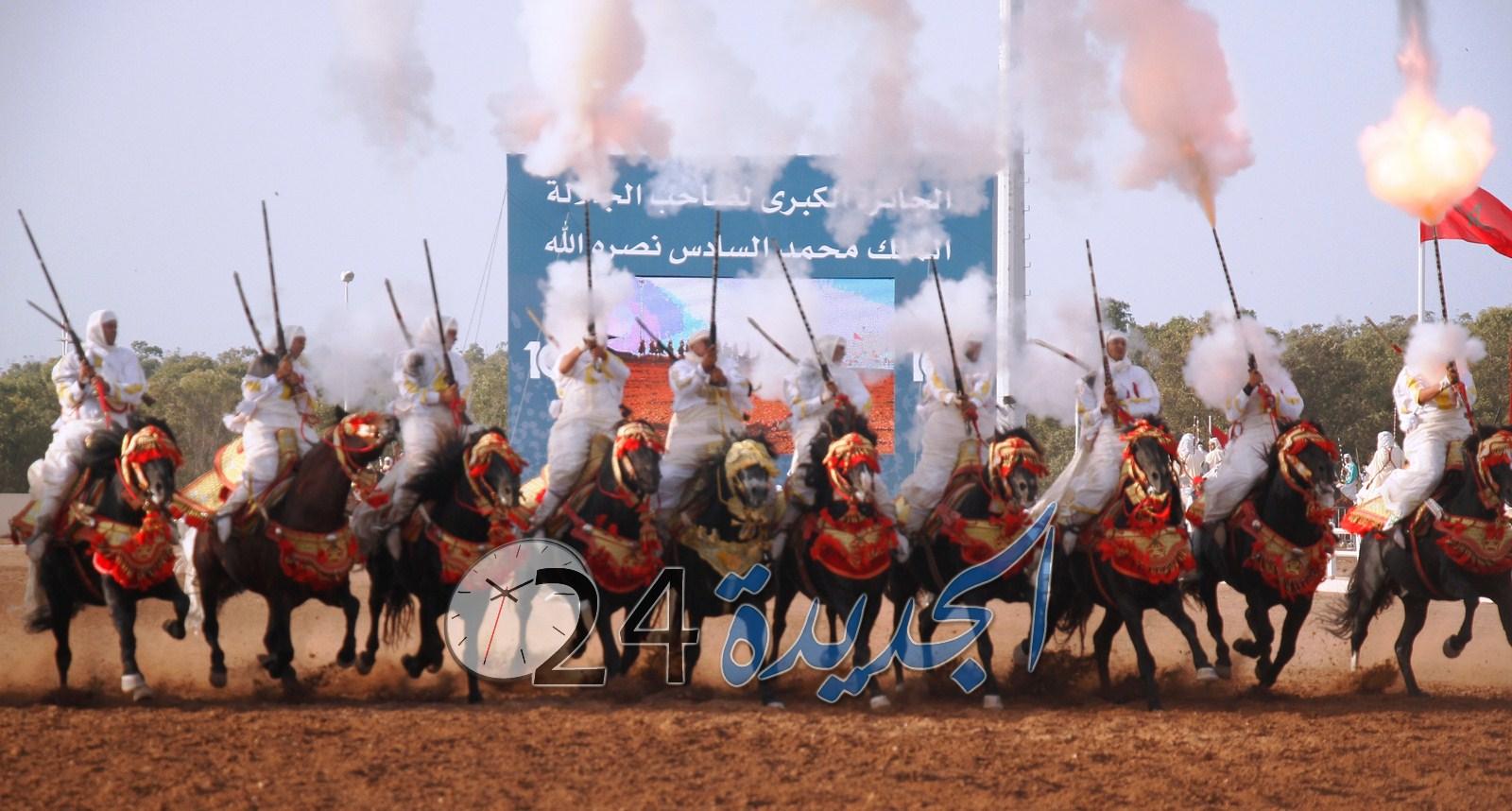 جائزة محمد السادس الكبرى للتبوريدة تستقطب اكبر عدد من زوار معرض الفرس للجديدة