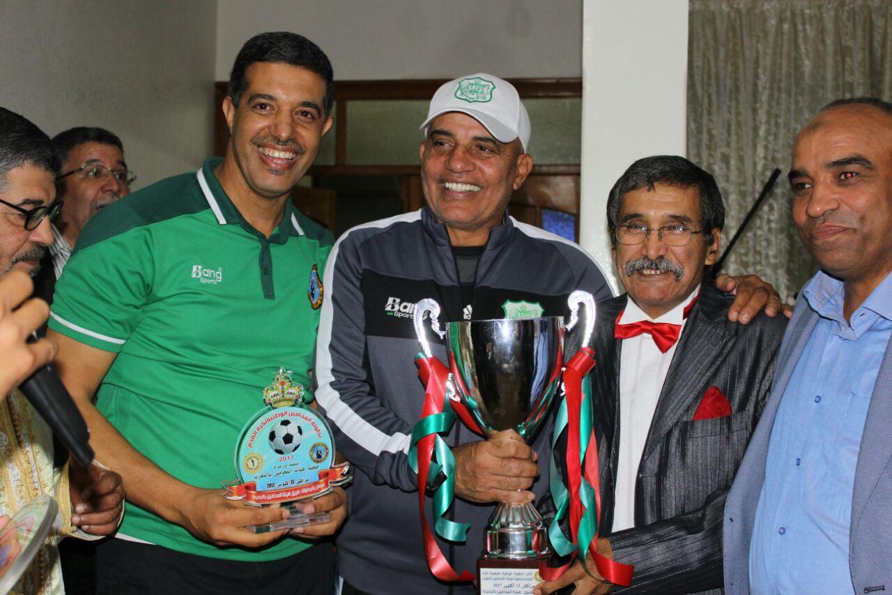 نجوم رياضية وفنية تحتفي بنادي هيئة المحامين بالجديدة بعد فوزه ببطولة المغرب