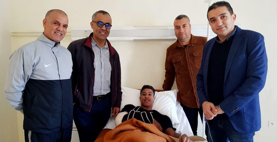 الدفاع الحسني الجديدي يكشف تفاصيل إصابة نجمه المهاجم حميد أحداد