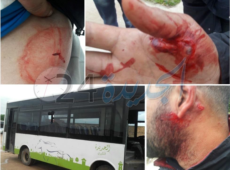 بلطجية يعتدون بالسلاح الأبيض على ''كنترولور'' وسط حافلة للنقل الحضري بالجديدة
