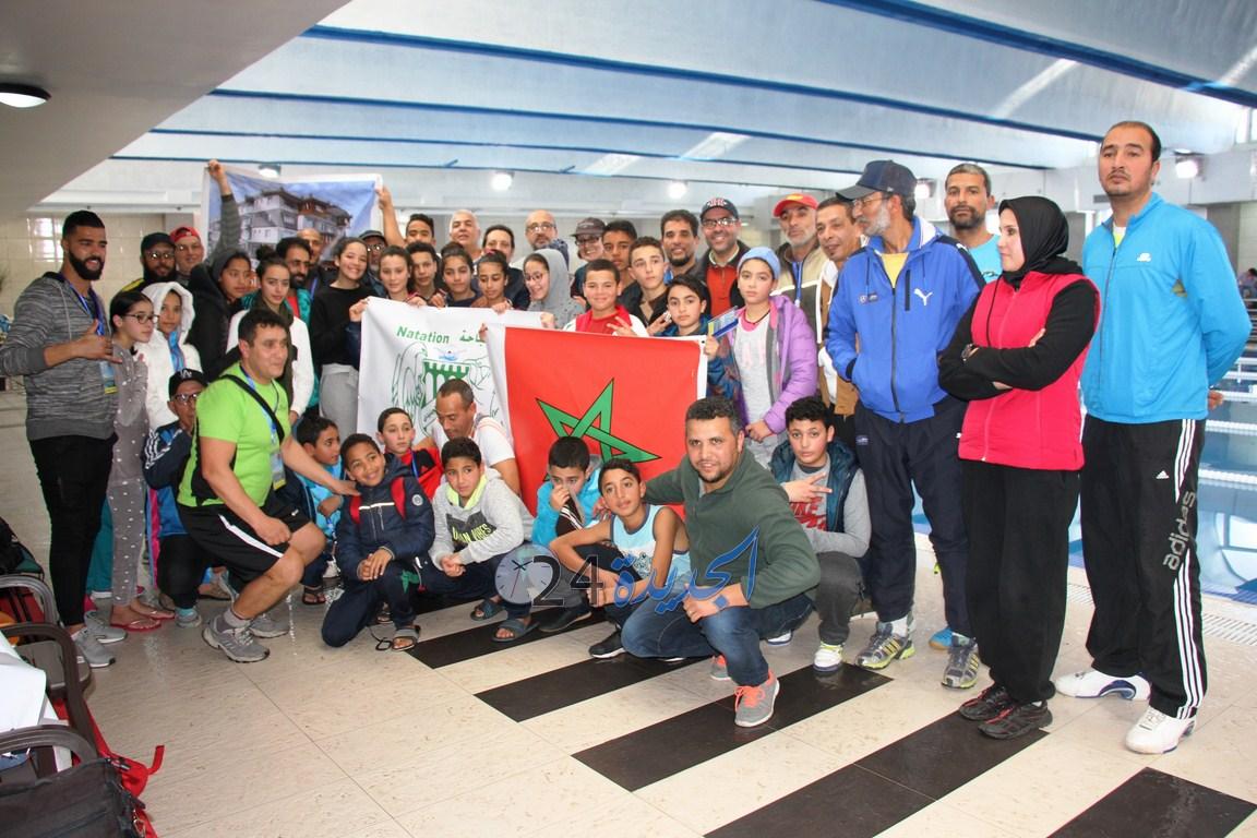 بالصور والفيديو.. نادي الدفاع الحسني الجديدي للسباحة ينظم يوما لانتقاء السباحين