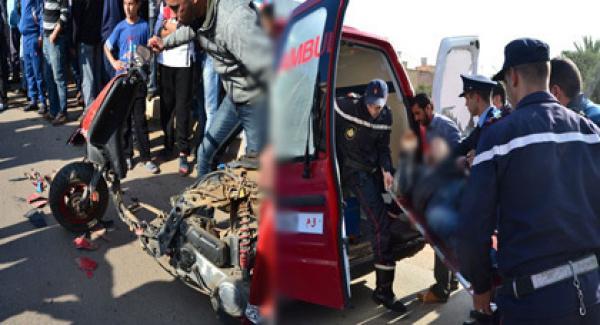 سيارة أجرة ''مجنونة'' تقتل دراجيا وترسل آخر إلى قسم الإنعاش بالجديدة