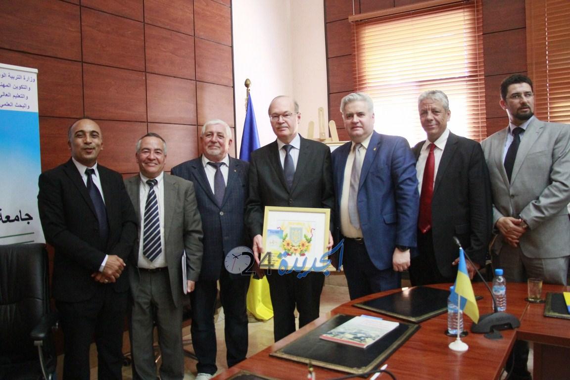 بالصور.. توقيع اتفاقية شراكة بين جامعة شعيب الدكالي وجامعة ''خاركوف'' الأوكرانية
