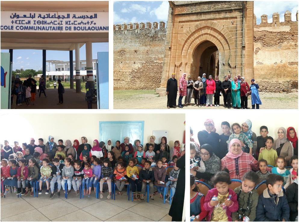الجمعية المغربية للنهوض بالتعليم الأولي تنظم قافلة تضامنية بجماعة بولعوان
