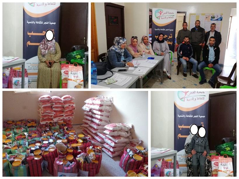 جمعويون يوزعون مساعدات رمضانية على أزيد من 60 أسرة معوزة بالجديدة