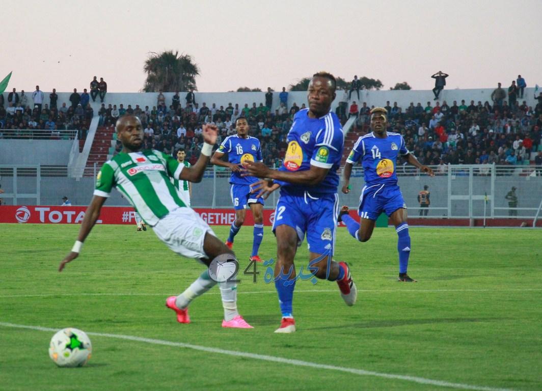 الدفاع الحسني الجديدي يتلقى هزيمة قاسية أمام فريق مازمبي في عصبة الابطال