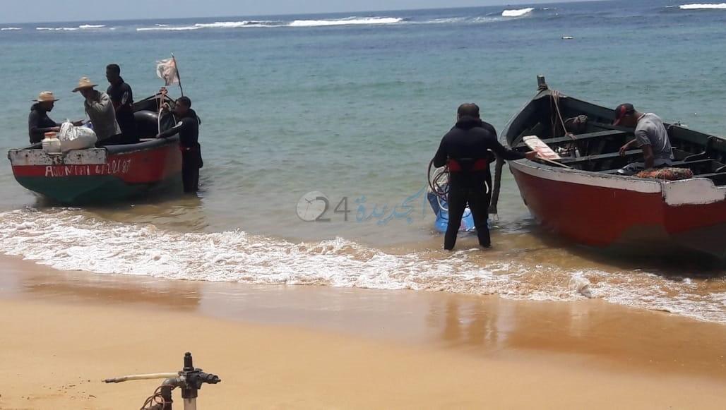 بالصور.. حجز  3 قوارب عشوائية لصيد الرخويات والصدفيات بساحل اقليم الجديدة