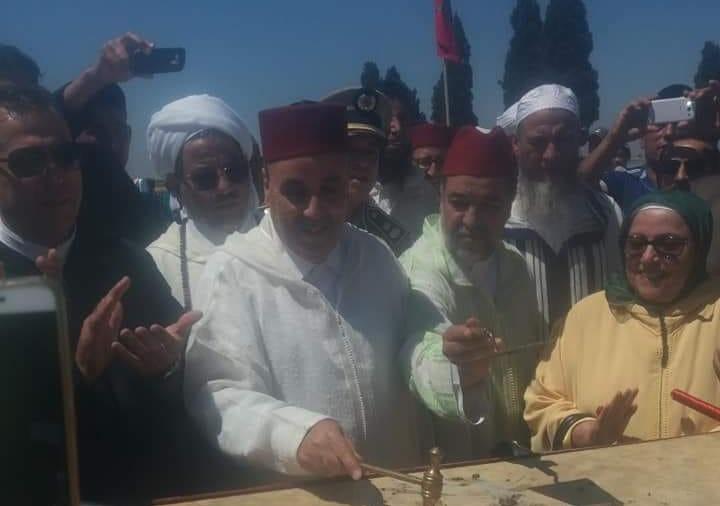 وضع الحجر الاساس لبناء مركب ديني بجماعة سانية بركيك اقليم سيدي بنور