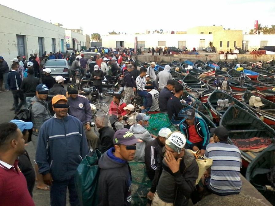 مهنيو الطحالب البحرية يبدأون إضرابا شاملا مع انطلاق موسم جني الطحالب ياقليم الجديدة