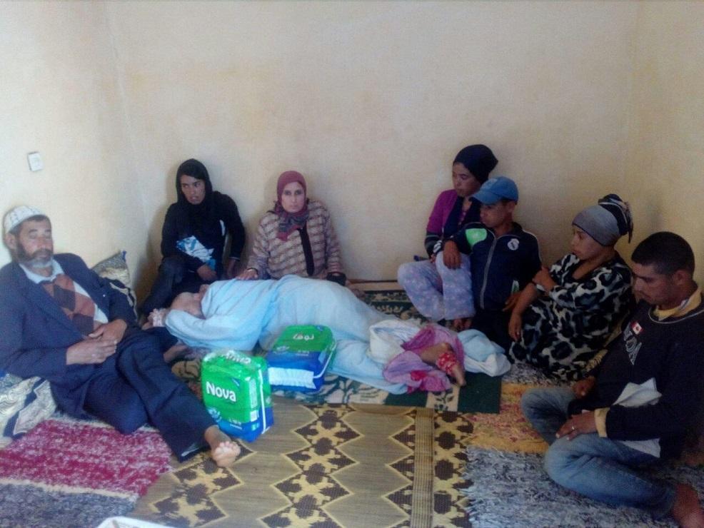 أسرة معاقة بجماعة أولاد اسبيطة إقليم سيدي بنور تعاني في صمت
