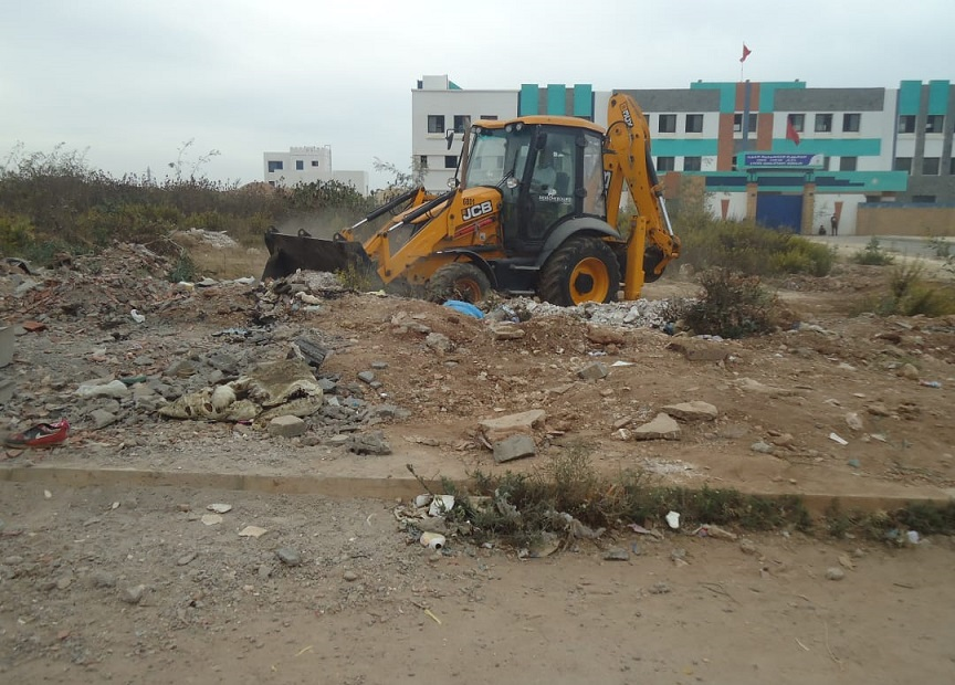 تنظيم يوم تحسيسي وحملة للنظافة بمحيط الثانوية التأهيلية النجد بالجديدة