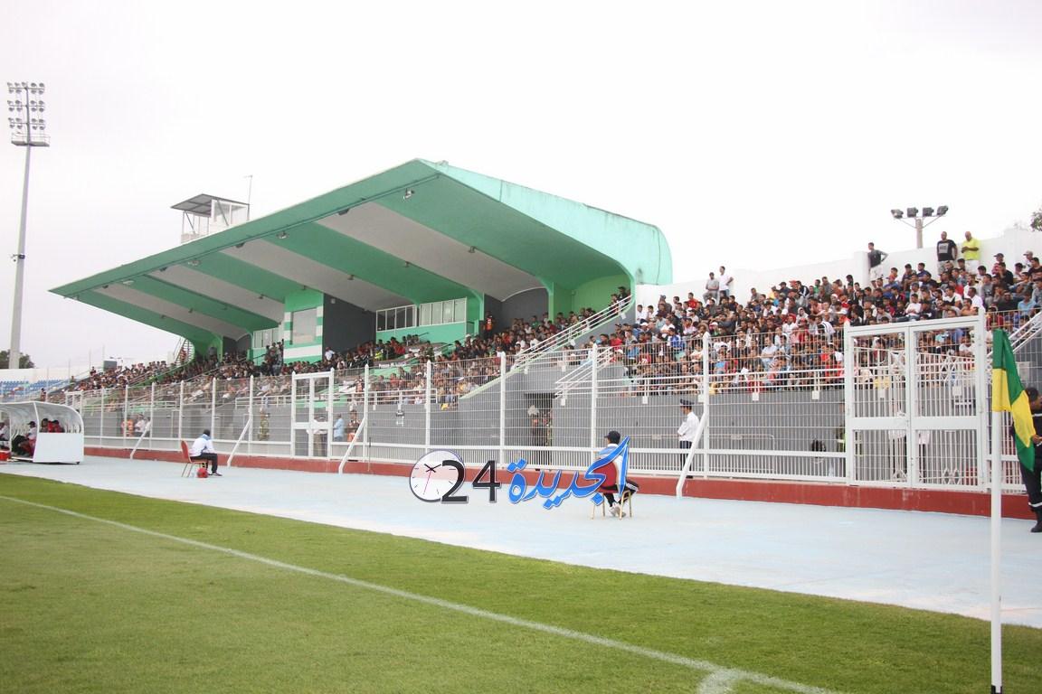 مسيرون وجمهور غفير من الجديدة يحضرون مباراة نهضة الزمامرة في ملعب العبدي