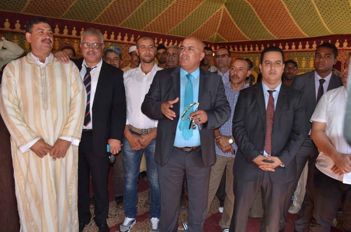 عامل سيدي بنور يتخلف عن افتتاح مشروع للتطهير السائل بجماعة الغنادرة كلف حوالي 10 ملايير سنتيم