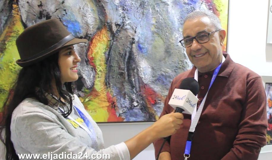 الفنان التشكيلي حميد بلة يتألق بلوحاته التشكيلية بمعرض الفرس للجديدة