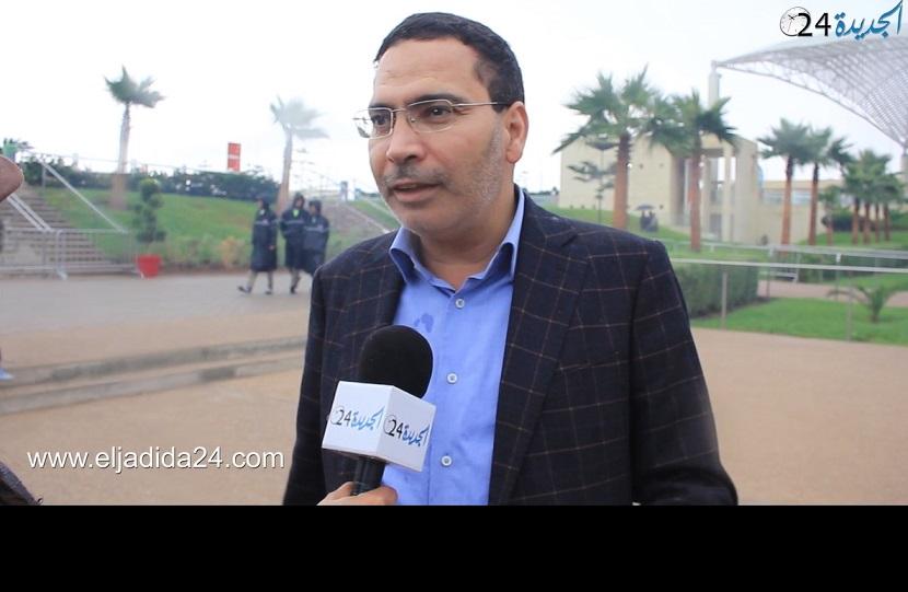 الوزير مصطفى الخلفي على هامش حضوره فعاليات معرض الفرس بالجديدة