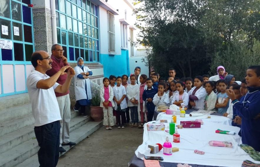 مدرسة ابن حمديس بآزمور في يوم تحسيسي حول أهمية نظافة اليدين