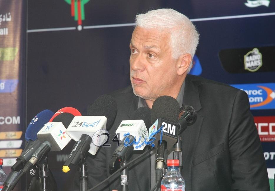 الدفاع الحسني الجديدي يقدم مدربه الجديد امام وسائل الاعلام + فيديو