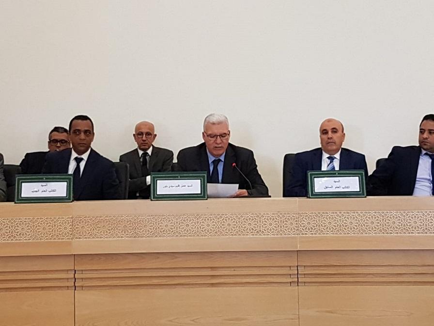 الاشراف على تنصيب الكاتب العام الجديد لعمالة اقليم سيدي بنور