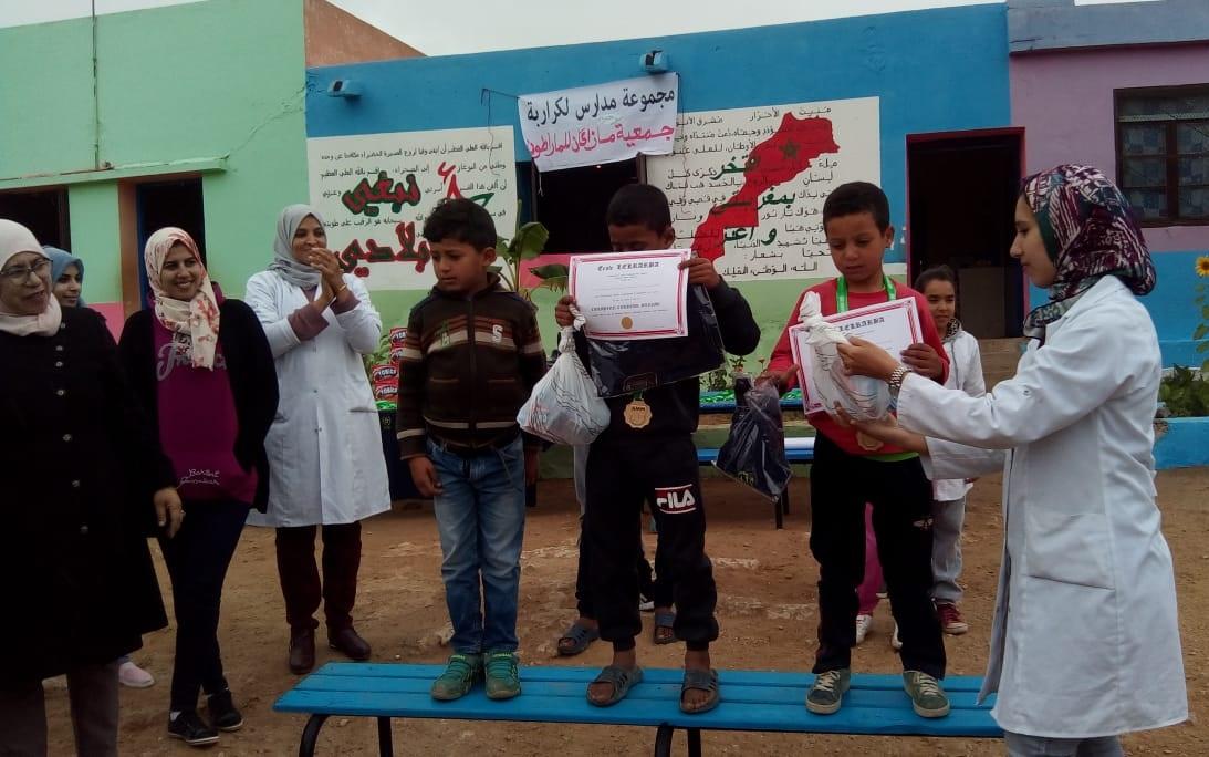 مشاركة أكثر  من 200 تلميذ في سباق مجموعة  مدارس الكراربة بجماعة أولاد غانم