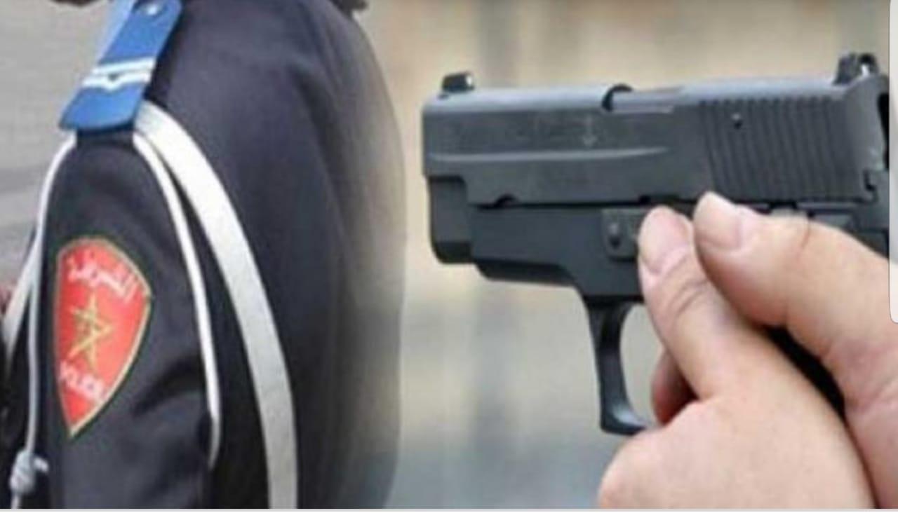 أمن سيدي بنور يستعمل سلاحه الوظيفي لإيقاف مجرم هاجم مواطنين بسيف