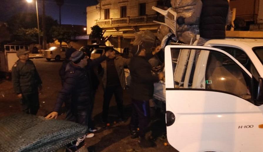 سلطات الجديدة تقود حملة تمشيطية في وقت متأخر من الليل ضد ظاهرة الباعة الجائلين بوسط المدينة