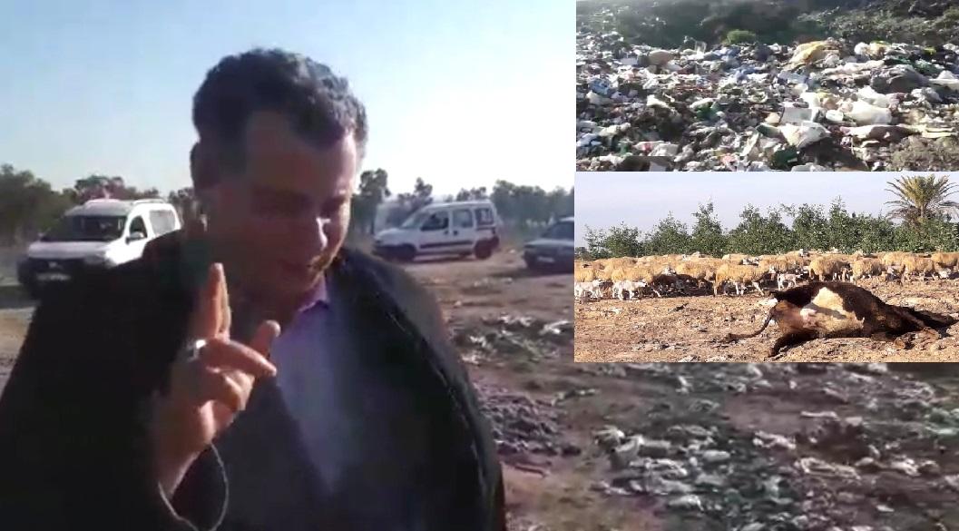 الناشط الحقوقي فطيش يفجر فضيحة ''الزبالة'' غير بعيد من منتجع الوليدية