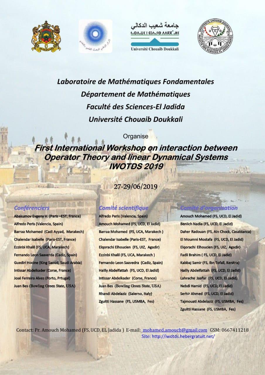 جامعة شعيب الدكالي تنظم ملتقا علميا دوليا حول الأنظمة الديناميكية