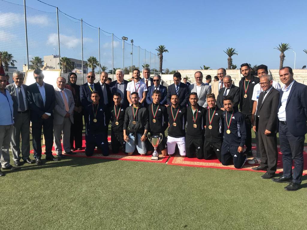 منتخب جامعة شعيب الدكالي للكرة المصغرة يتوج ببطولة المغرب الجامعية